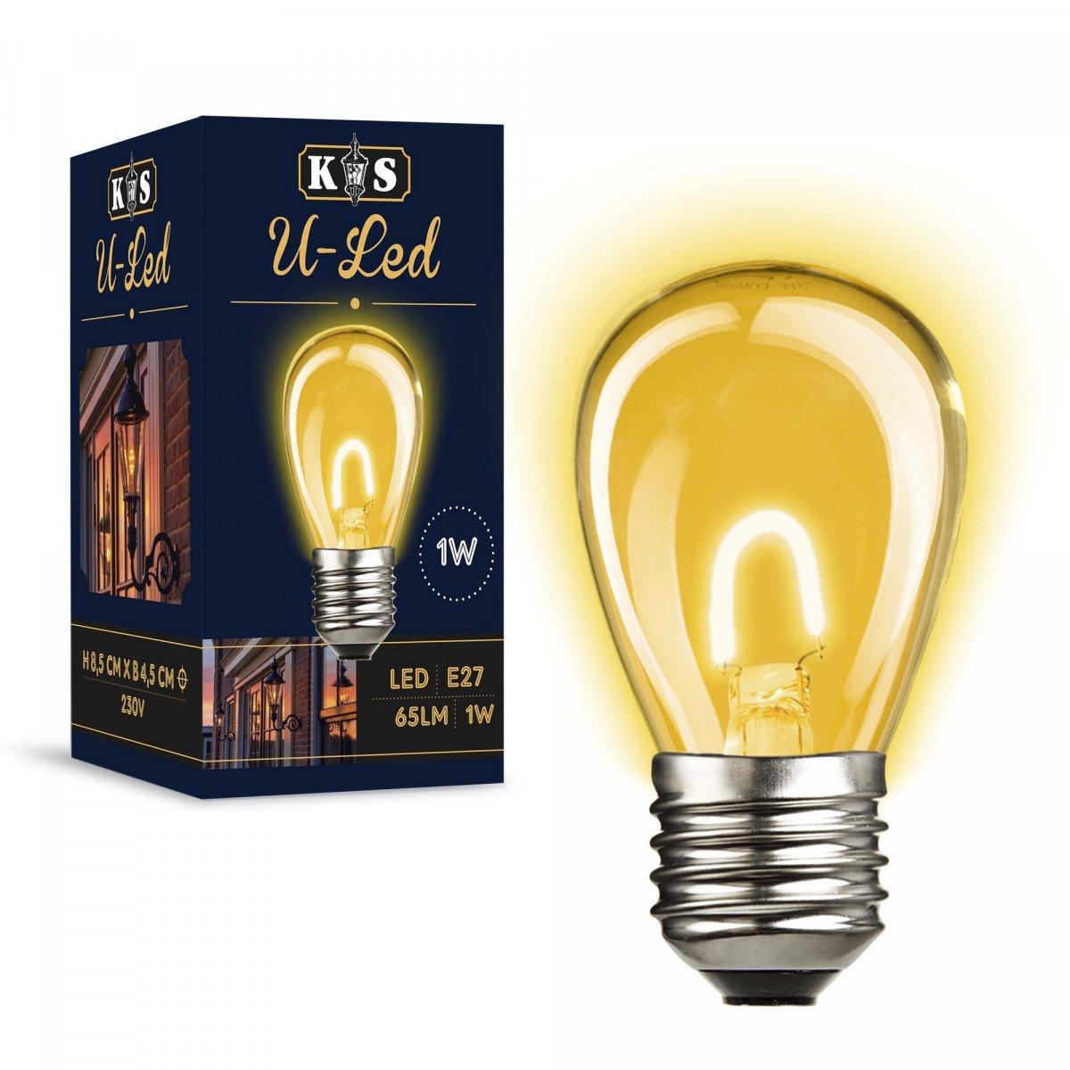 10x Set - Party Light LED Lampen Weiß für Innen und Außen