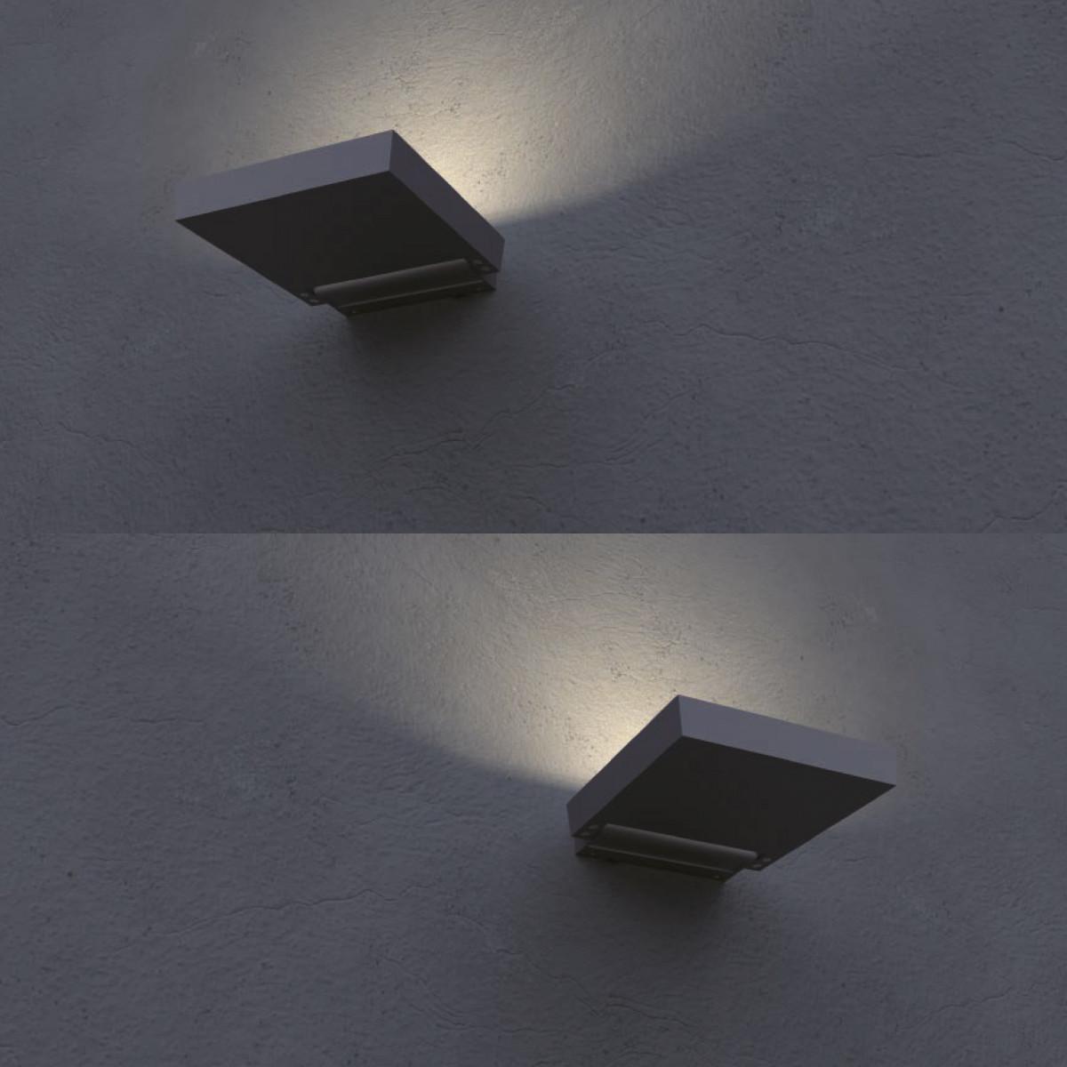 Wand- & Deckenleuchte Flutlicht Alpha
