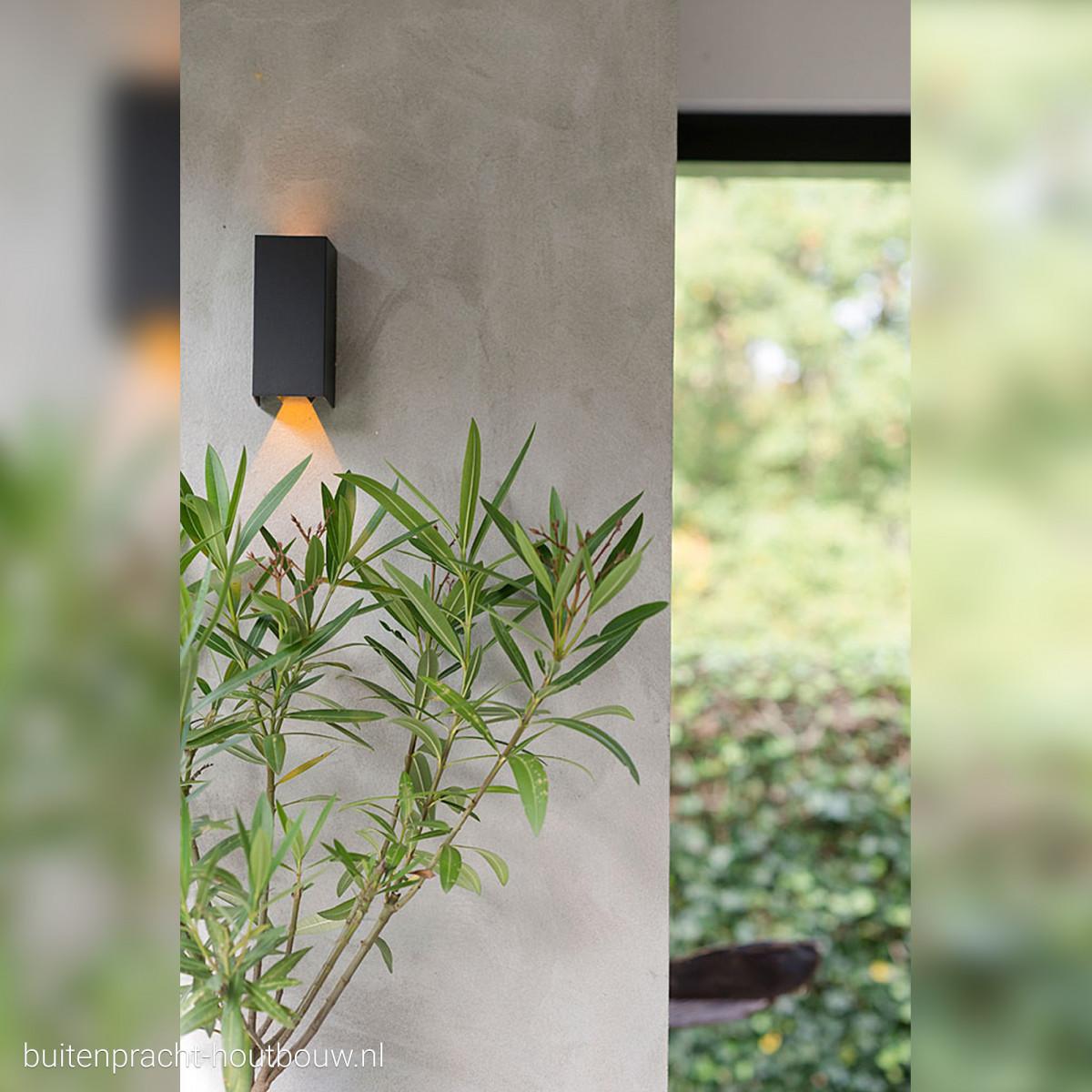 Moderne Außenwandleuchte Channel LED Anthrazit