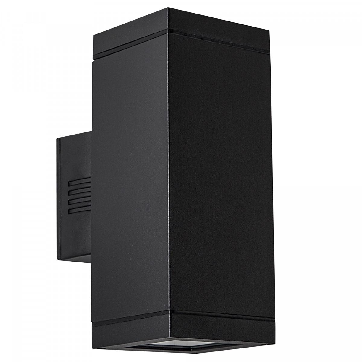 Außenlampe Up & Down Solid Schwarz E27