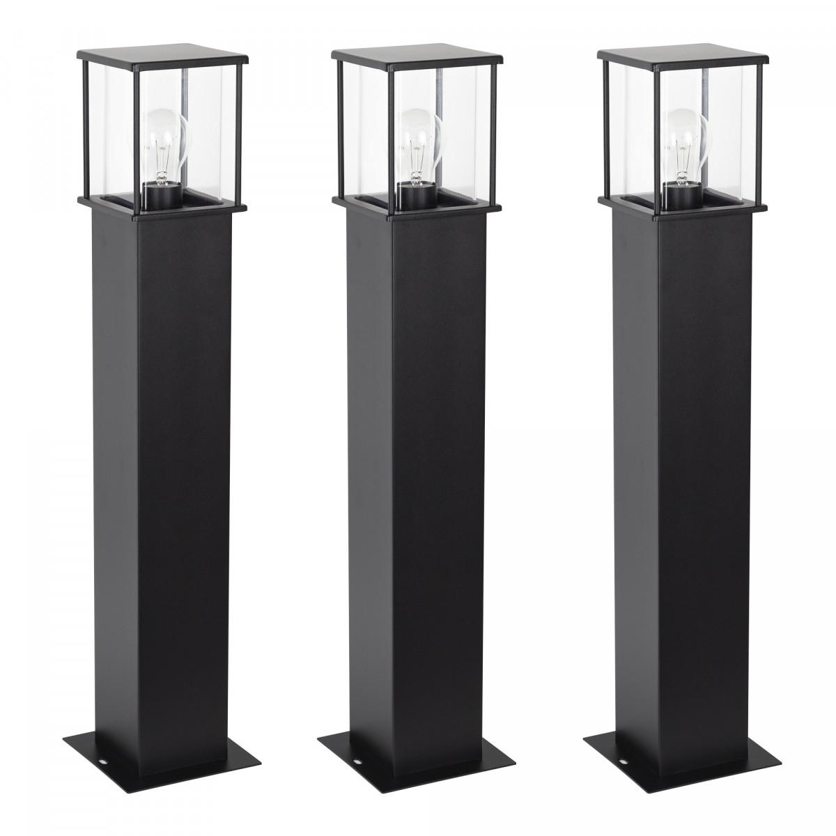 3x Set - Gartenlampe Astro 1 Schwarz