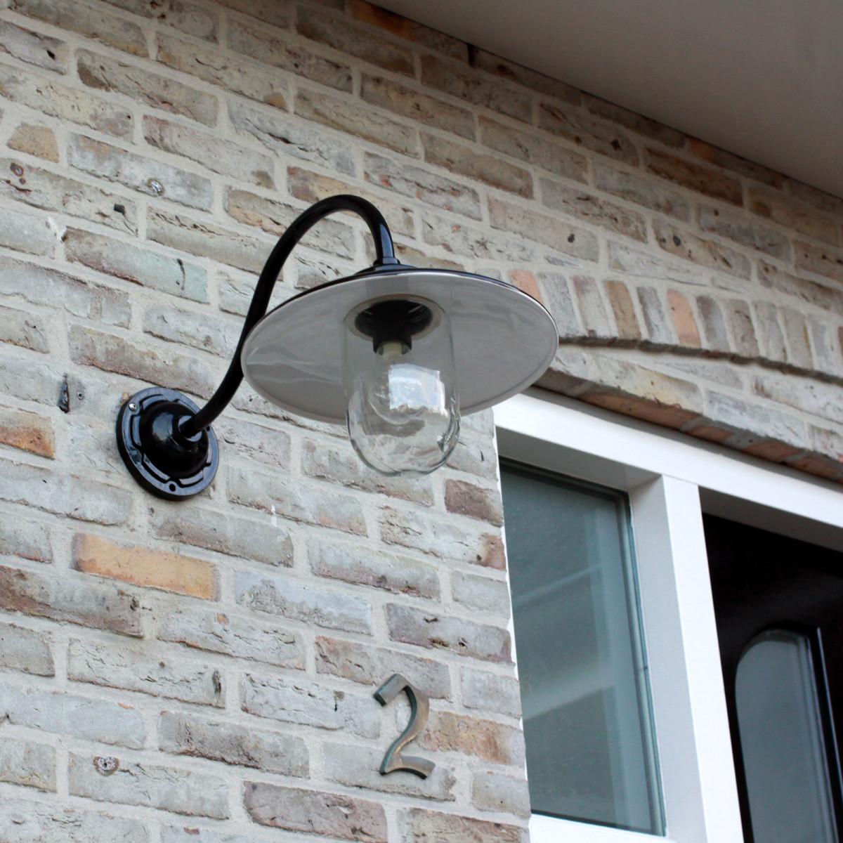 Wandleuchte Hoflampe Solingen Schwarz