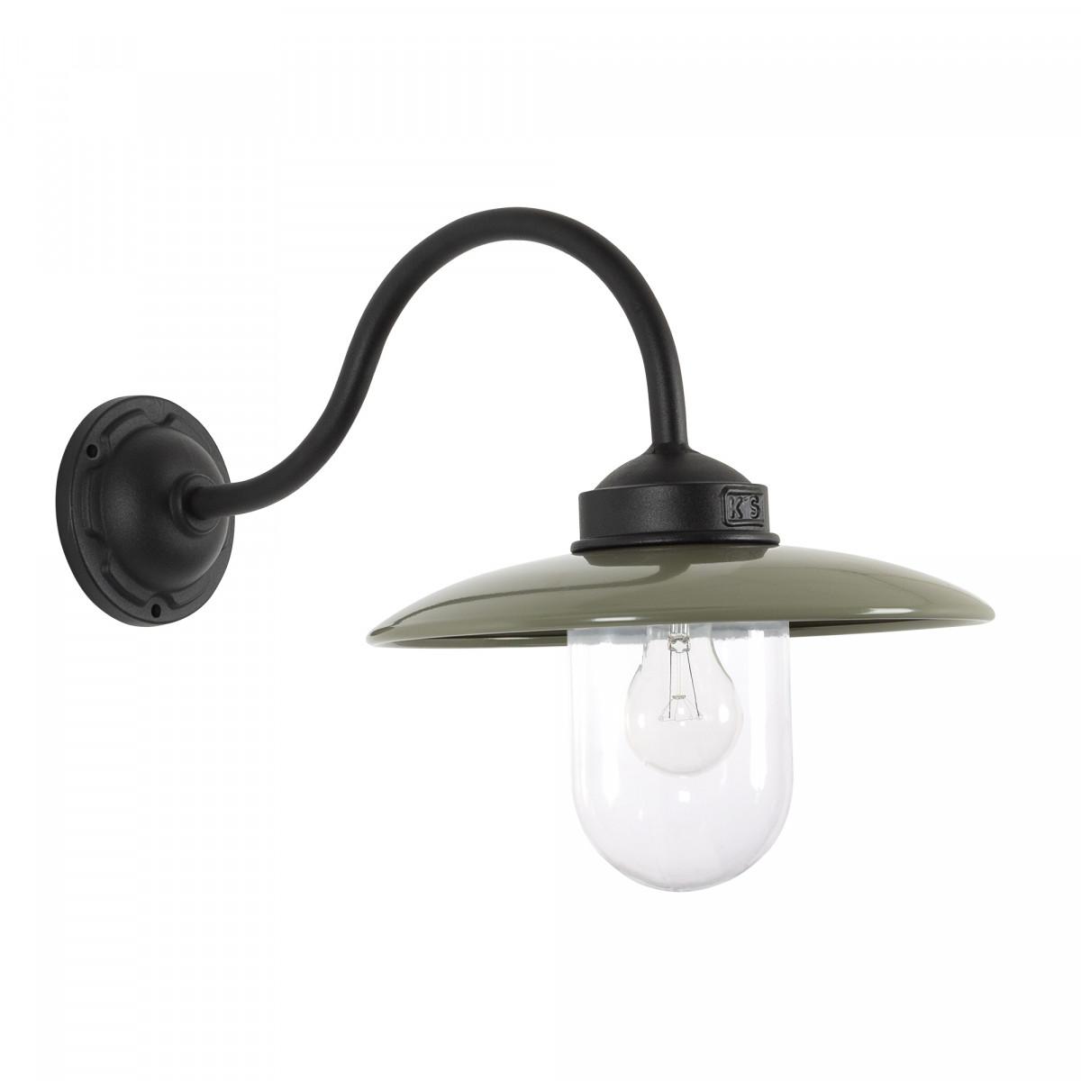 Handgemachte Hoflampe Solingen Schwarz/Taupe