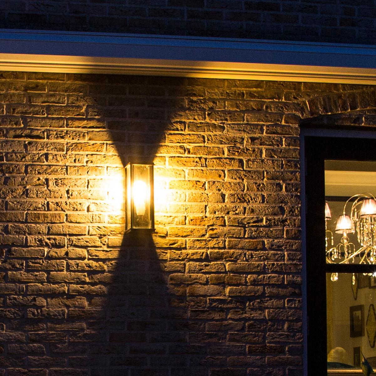Flache Wandlampe Capital L Schwarz