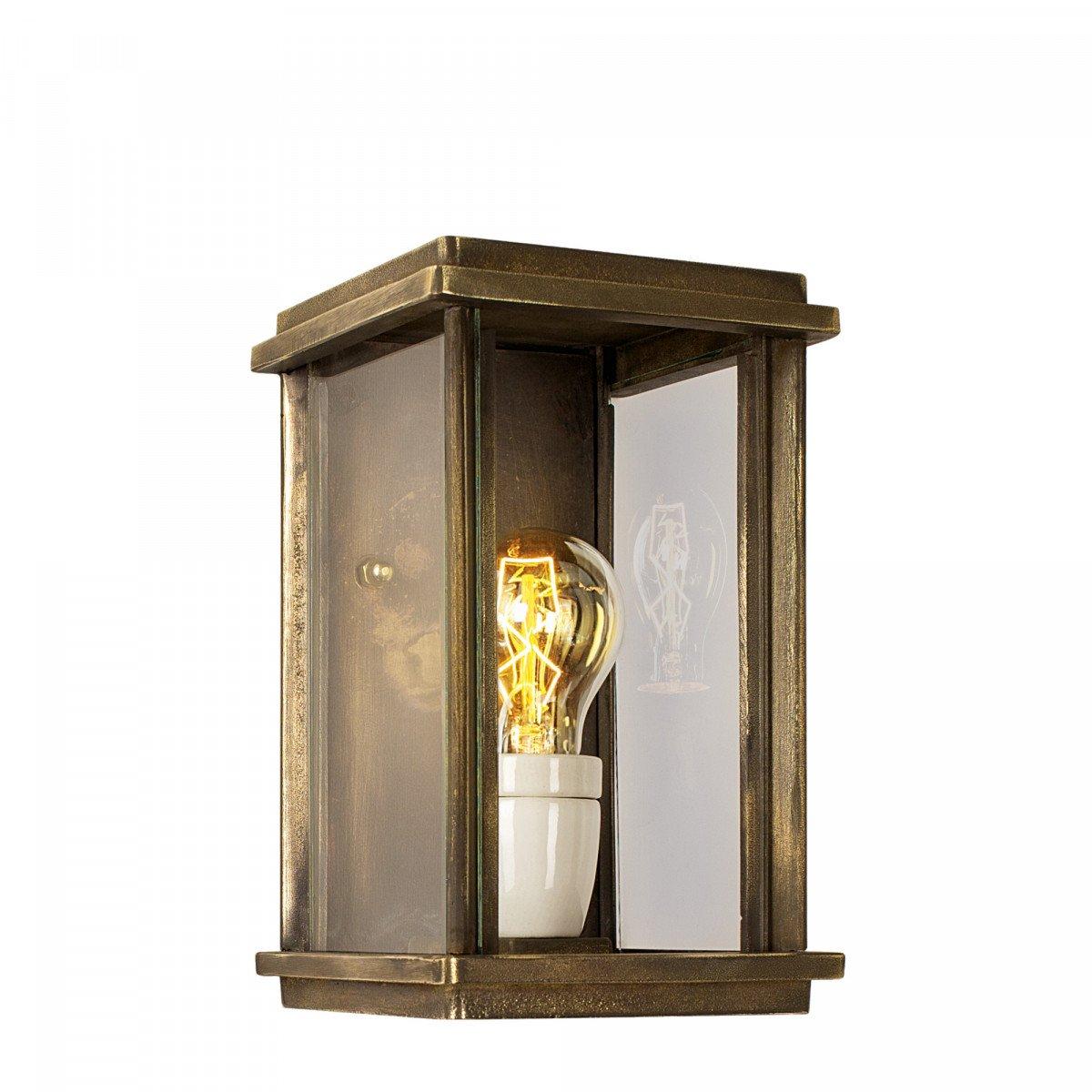 Flache Wandlampe Capital S Bronze