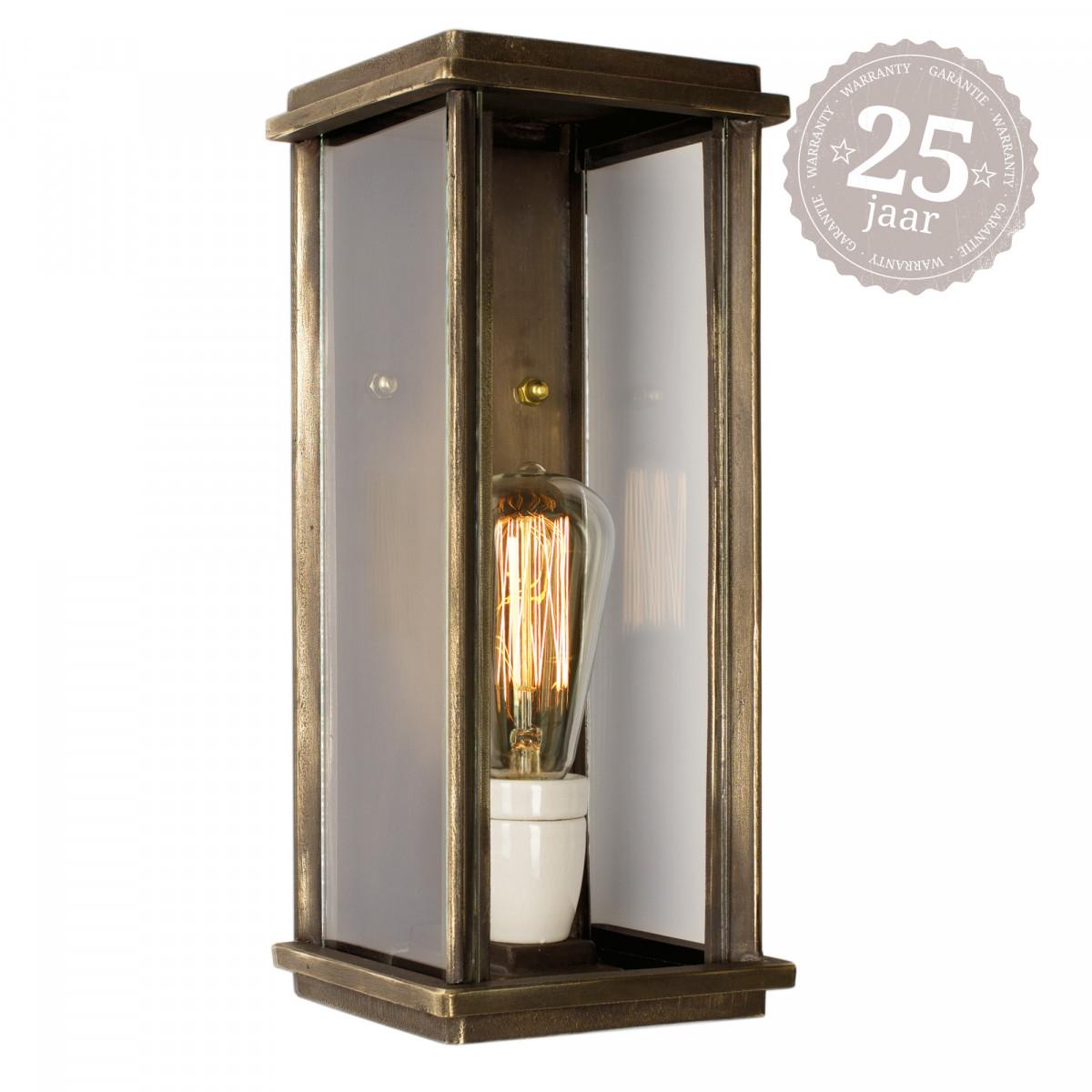 Flache Wandlampe Capital L Bronze