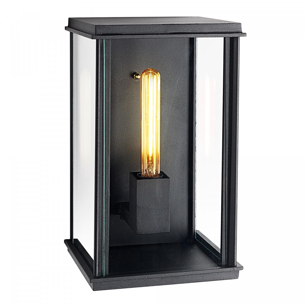 Kubische flache Wandlampe Capital XL Schwarz
