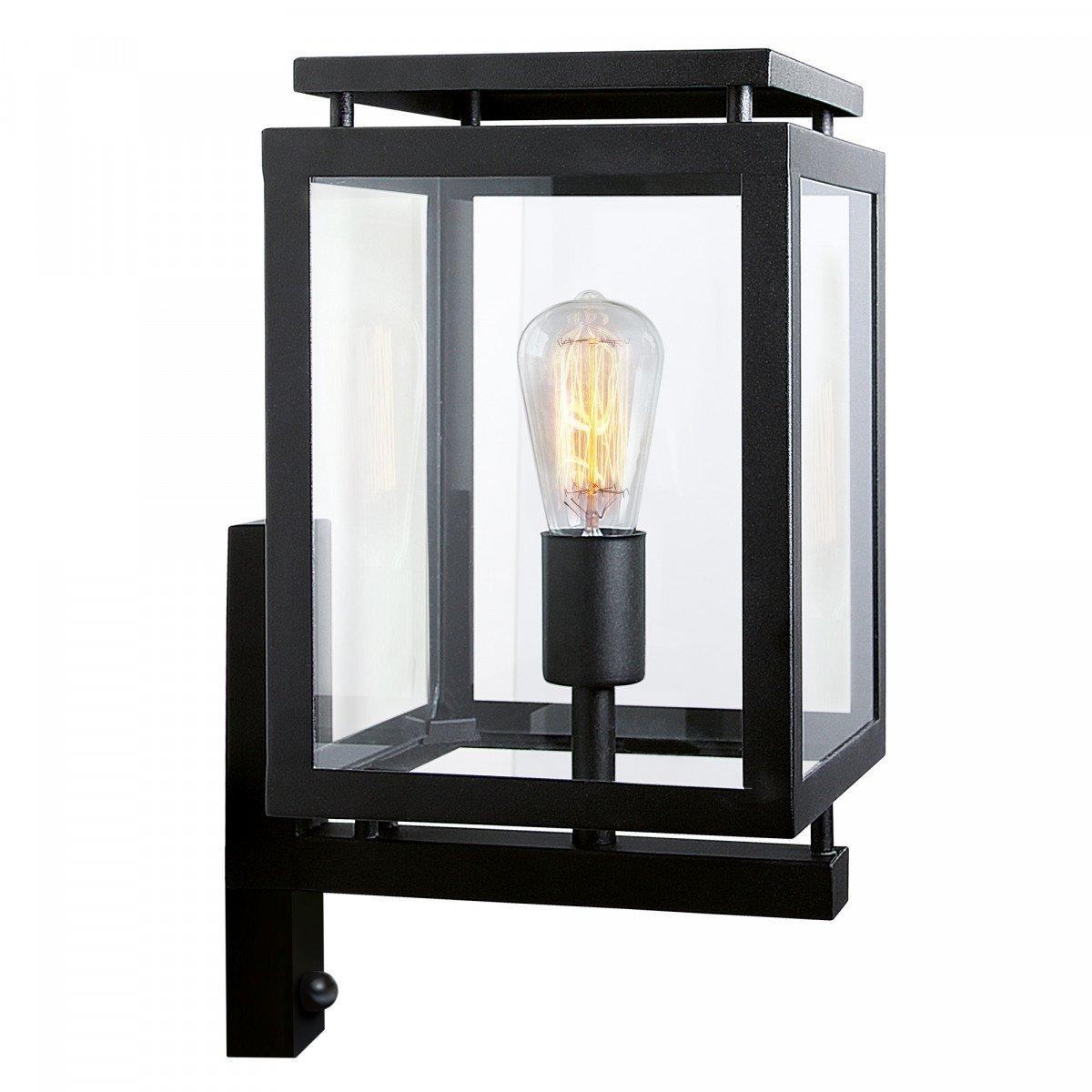 KS Lighting De Vecht mit Bewegungssensor - Beliebte moderne elegante klassische Außenbeleuchtung - Edelstahl