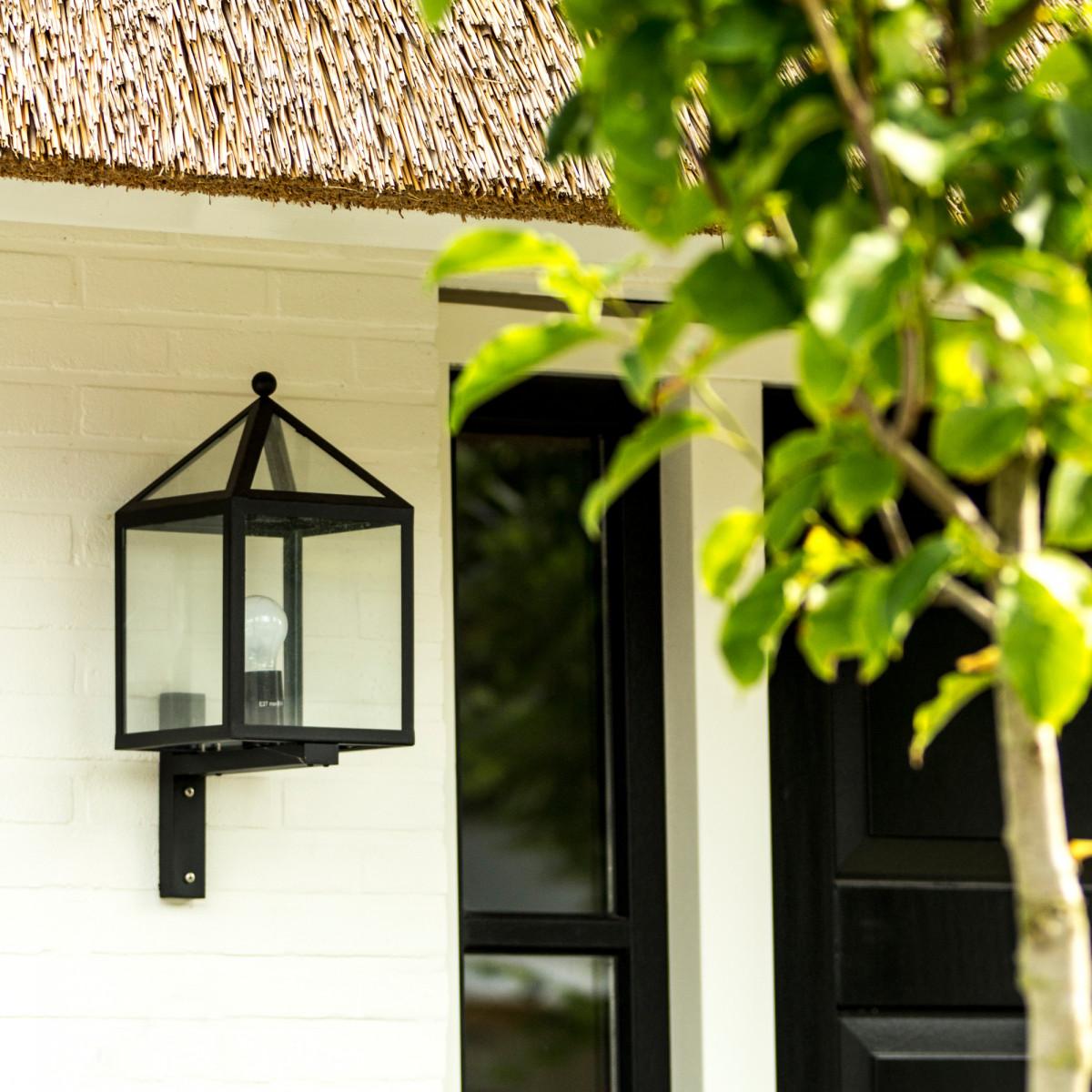 Wandlampe Blumental Außenwandleuchte Schwarz
