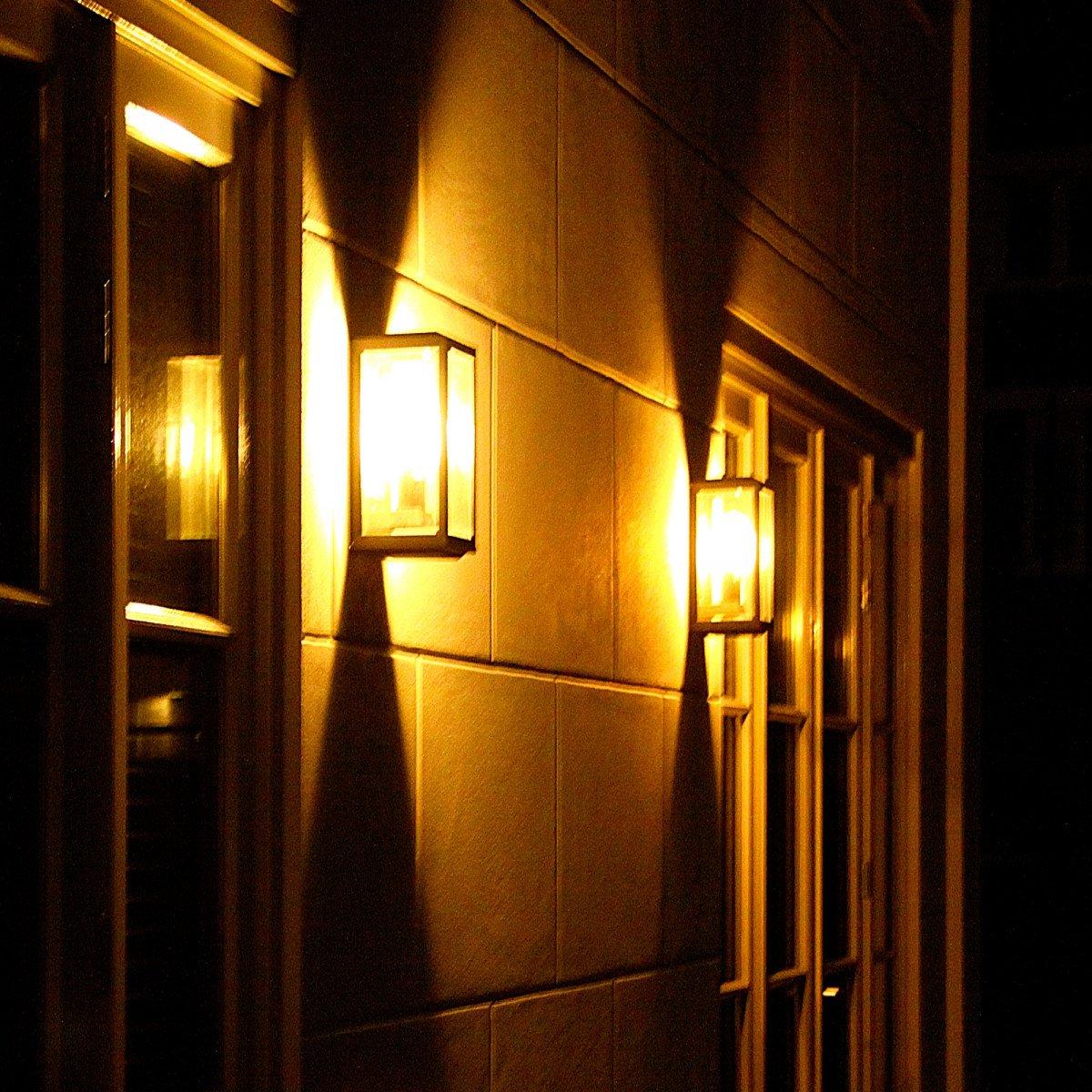 Flache Kubische Wandlampe Gooi - Wandleuchte - Außenwandleuchte - Nostalux