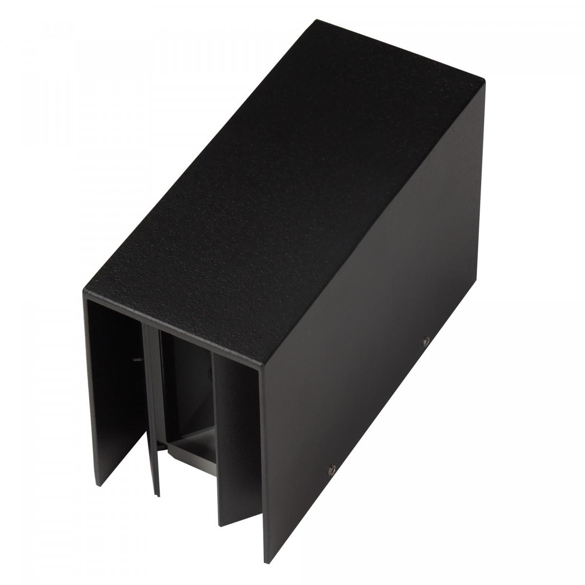Moderne Außenwandleuchte Channel LED Wandleuchte Schwarz