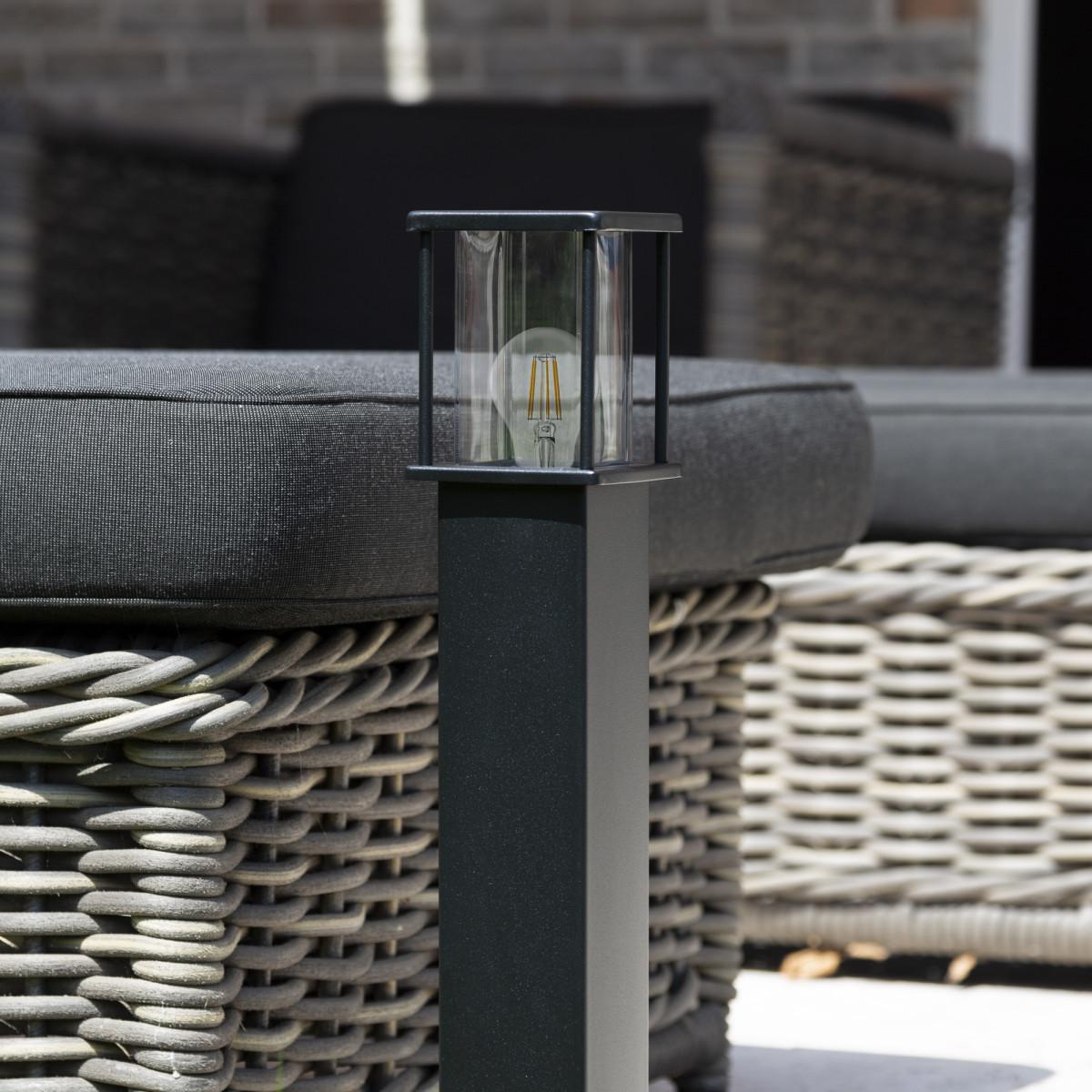 Gartenlampe Astro 1 Schwarz Design Außenleuchte 70 cm hoch