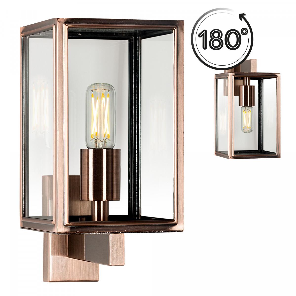Außenlampe Soho - Edelstahl Schwarz - 7530 - Wandlampe - Wandleuchte - Nostalux