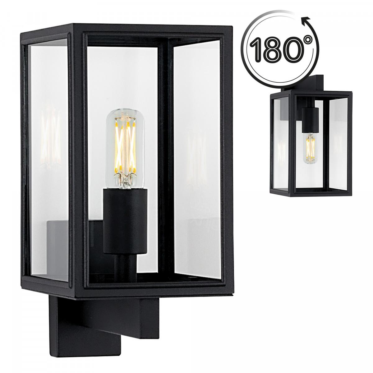 Auβen Wandleuchte Soho - Edelstahl Schwarz - 7530D4 - Wandlampe KS Beleuchtung
