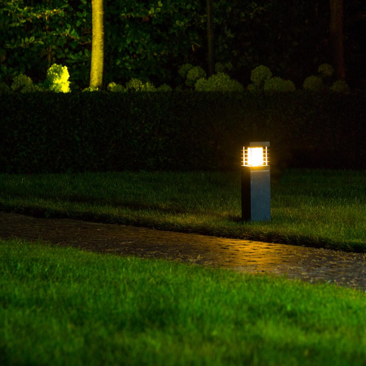 Naturstein Säule Gartenlampe S Standleuchte Außen