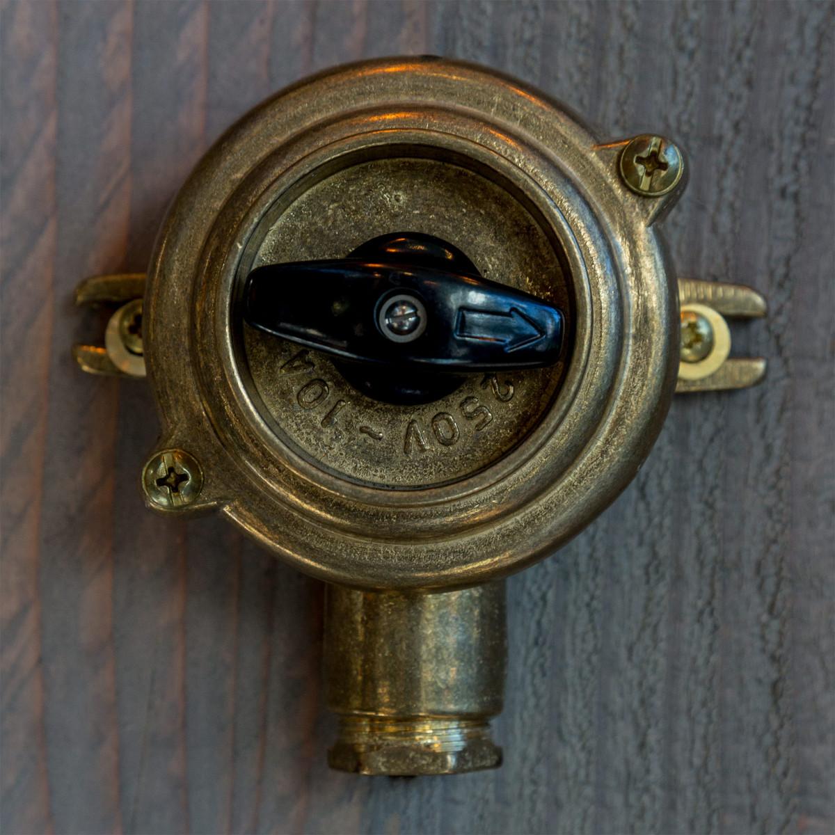 Vintage Drehschalter für außen