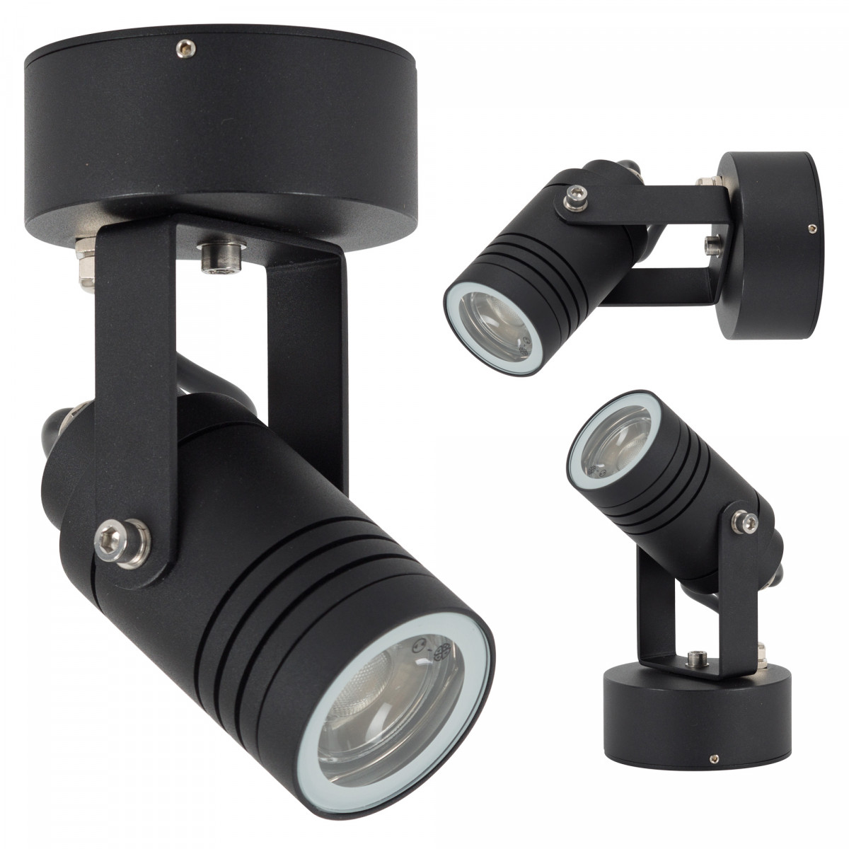 Beamer LED-Bodenstrahler Wandleuchte Schwarz GU 10   Nostalux.DE