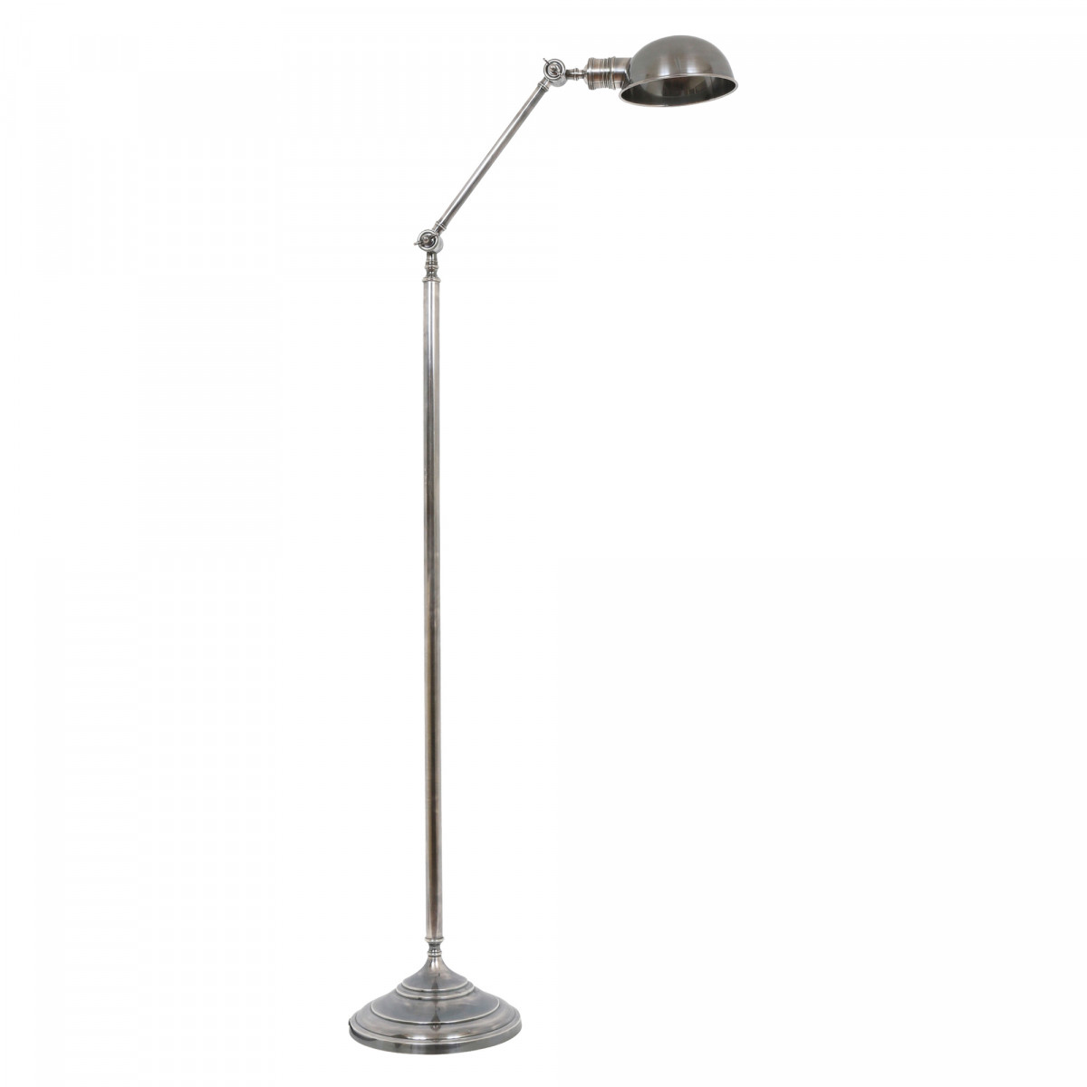 Retro Stehlampe Vienna Silber Spotlight