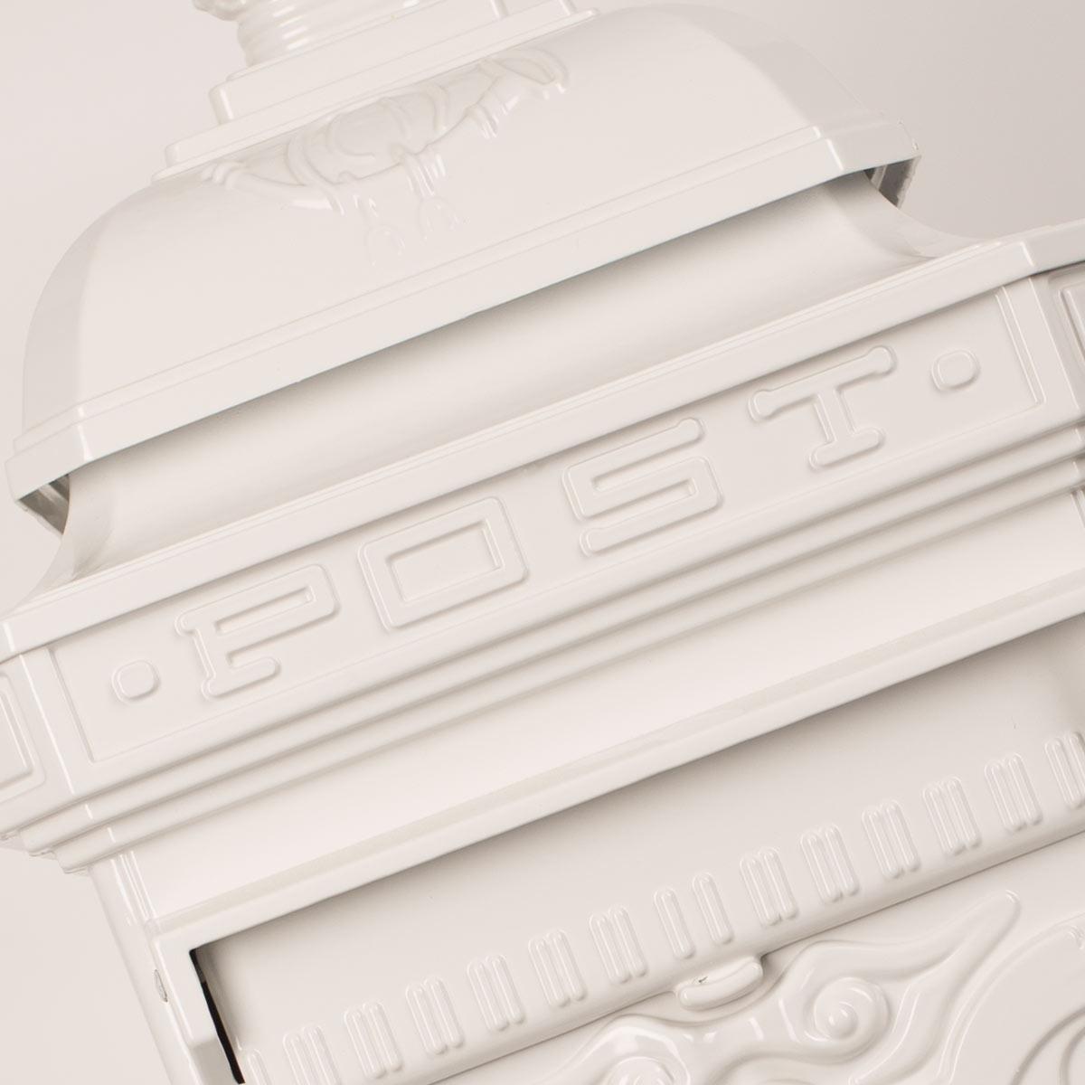 Briefkasten XL Weiß