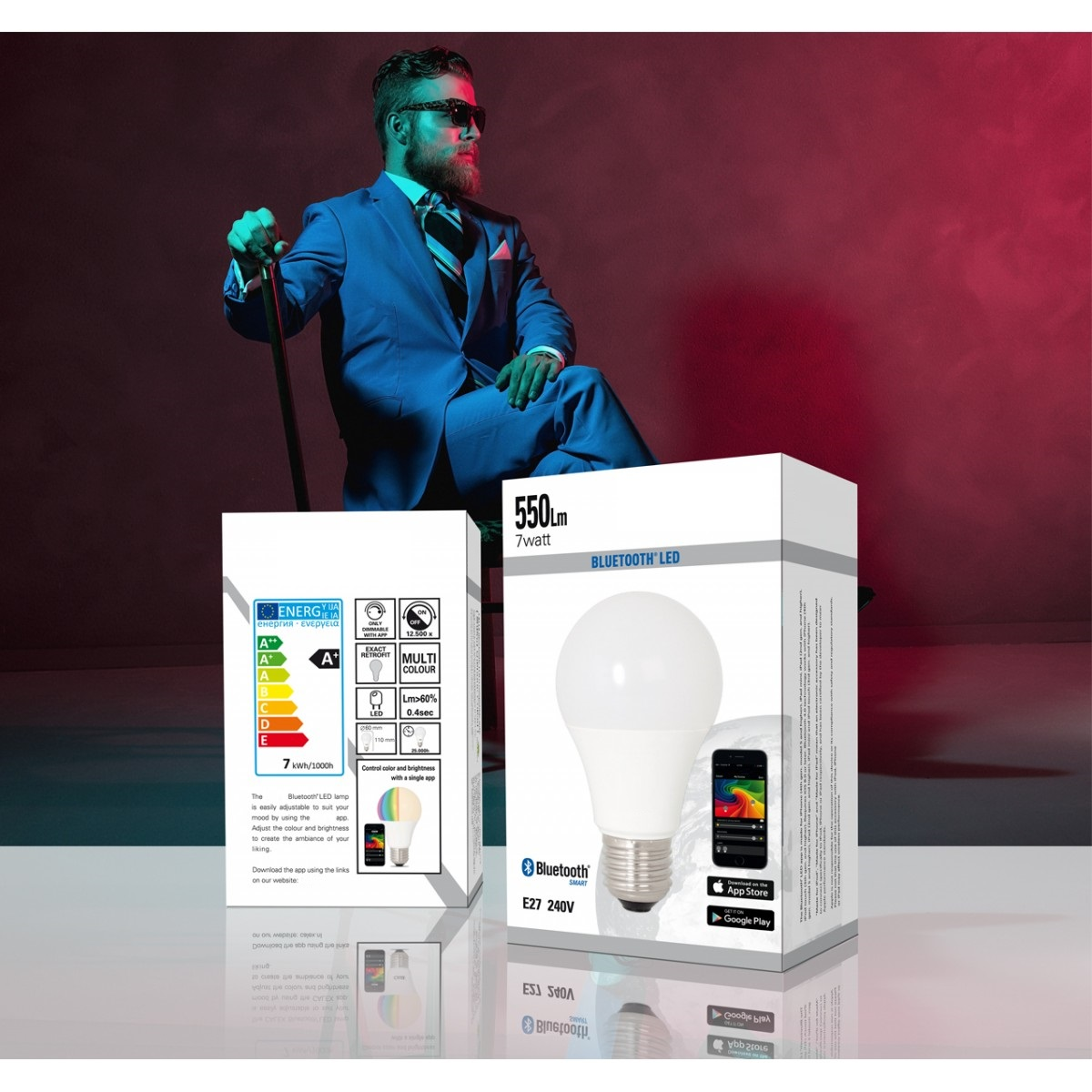 LED Leuchtmittel E27 Bluetooth