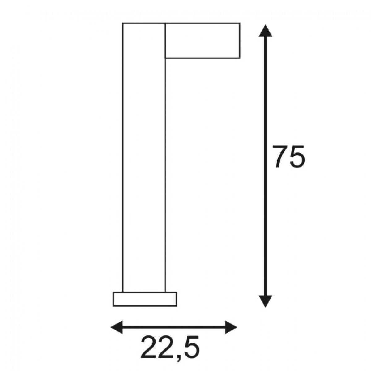 Quadrasyl Sl 75 Square Anthrazit 1xgx53