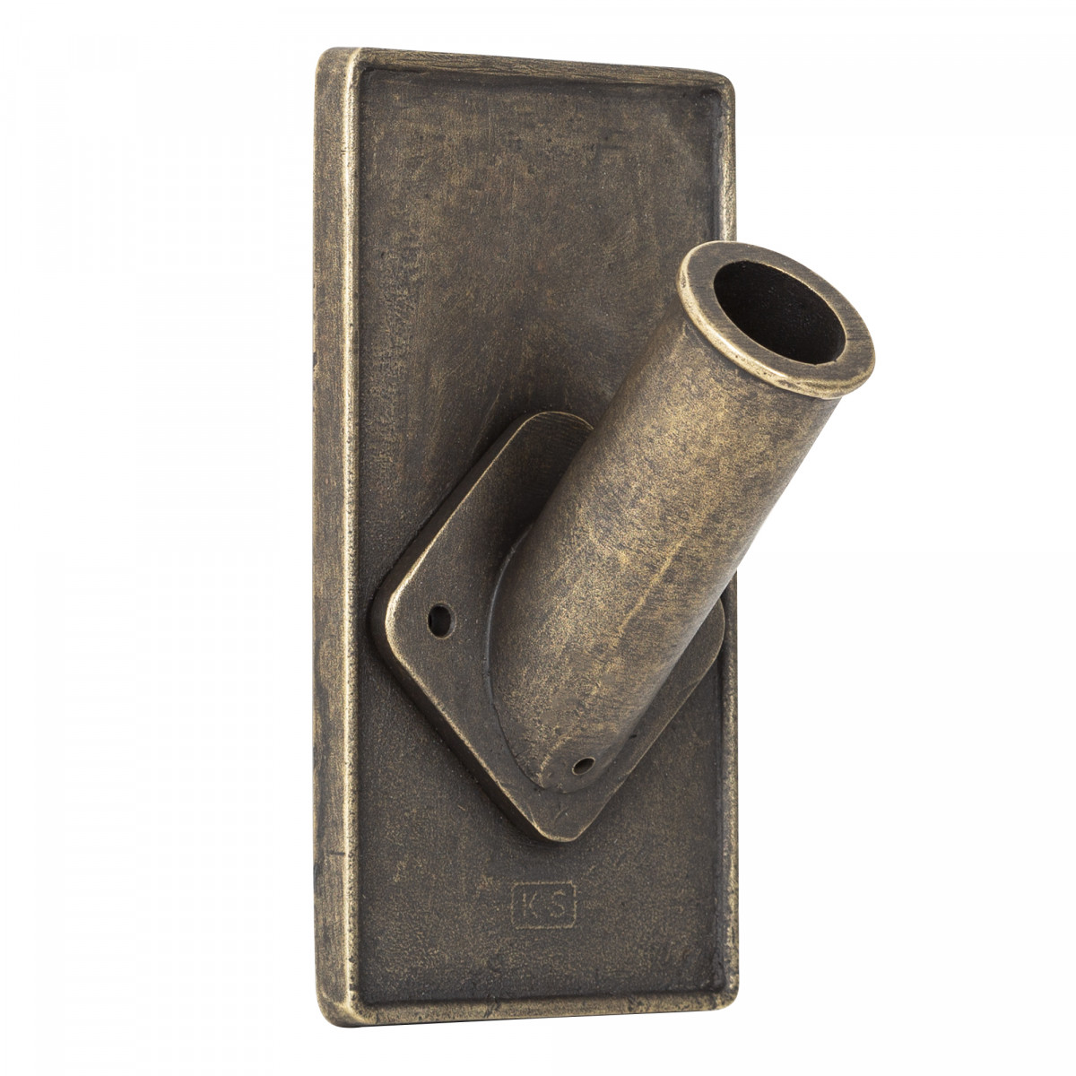 Schlichter Fahnenhalter Bronze Design