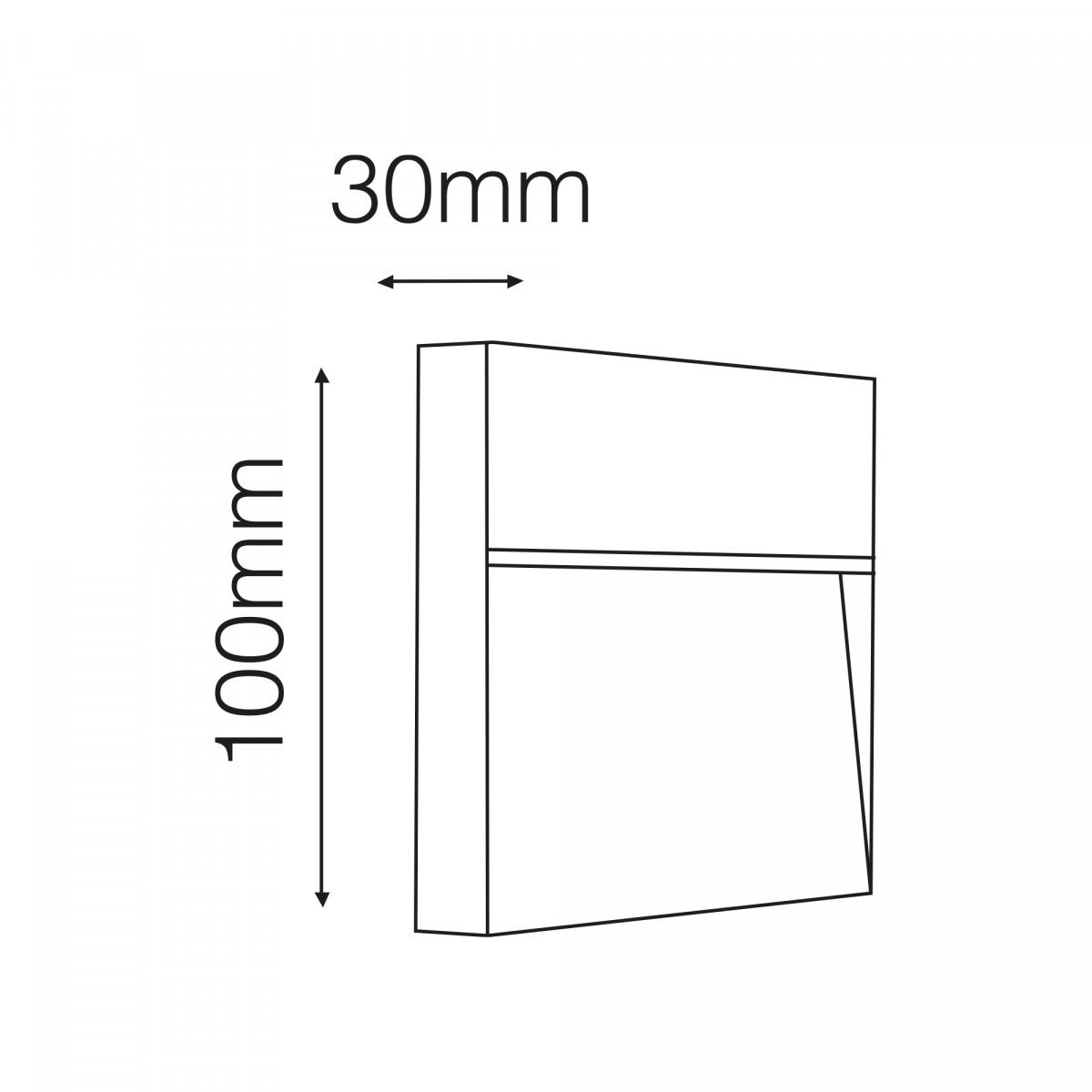 Wandspot LED downlighter Shadow square