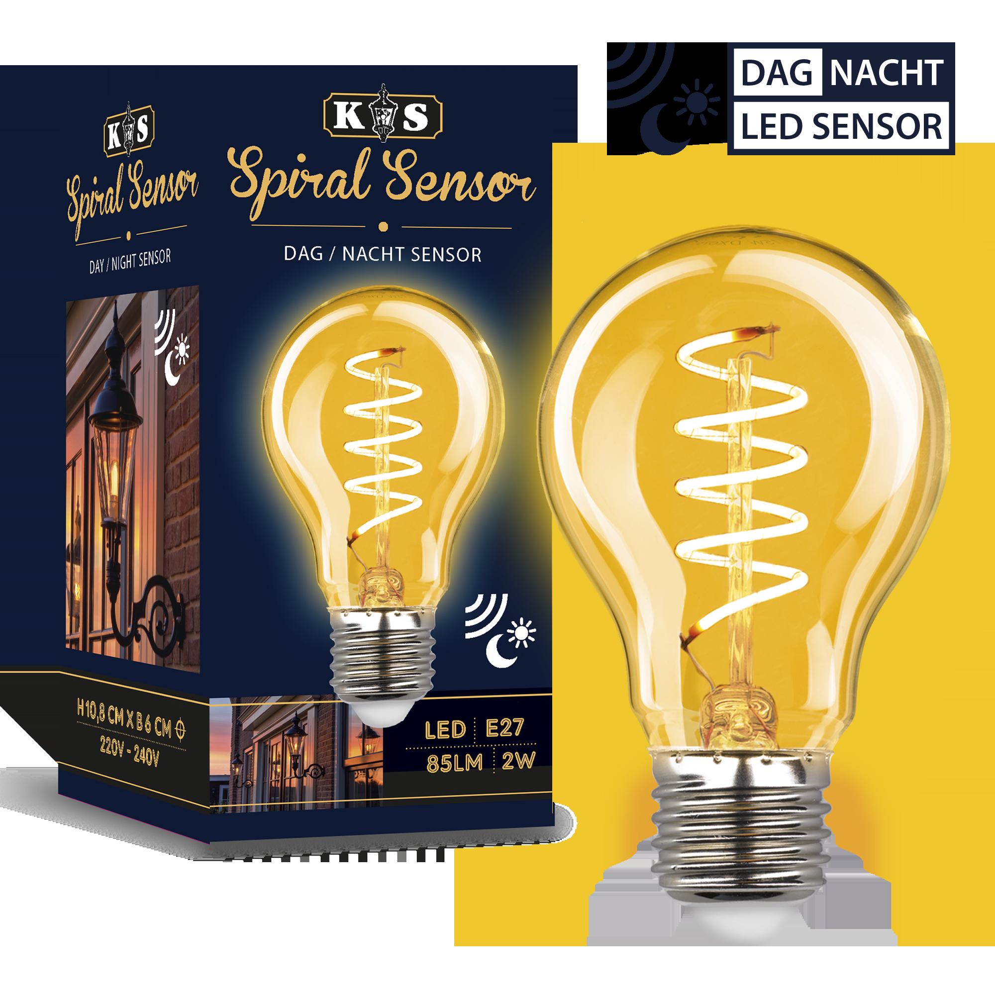 LED Tag / Nacht Sensor Spiral